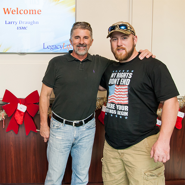 Larry Draughn Visits Legacy Life