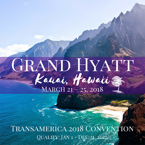 Transamerica Conference 2018 Kauai, Hawaii